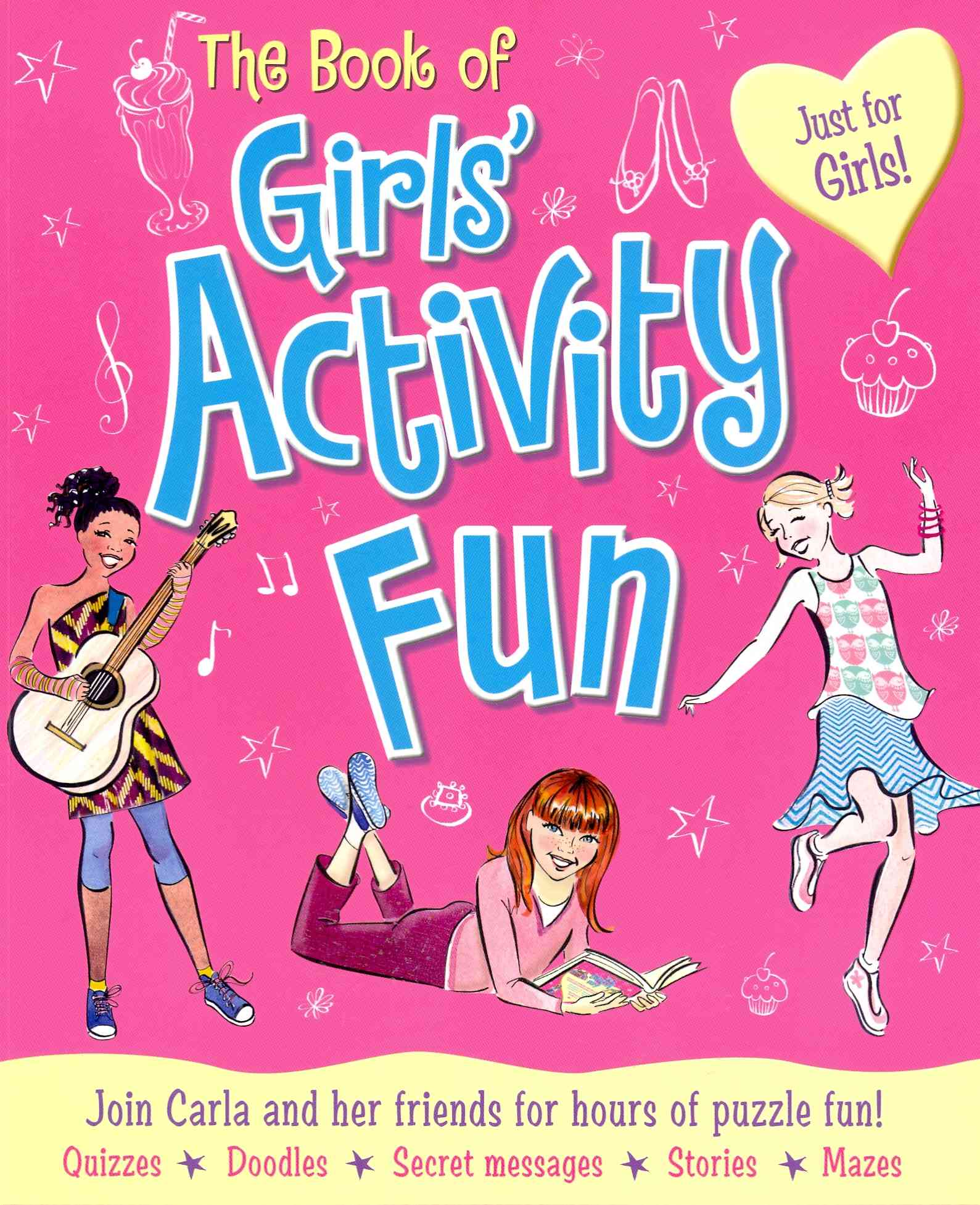 The Book of Girls' Activity Fun By Miles, Lisa